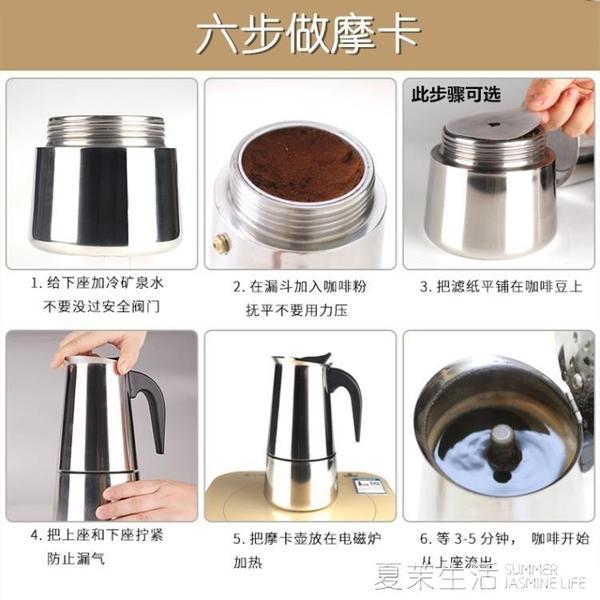 摩卡壺 家用意式濃縮煮咖啡壺 不銹鋼意大利特濃香煮咖啡機器具『快速出貨』