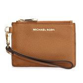 MICHAEL KORS荔枝紋皮革證件零錢手拿包(淺咖啡色)618099-4