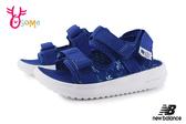 New Balance 750 寶寶涼鞋 小童 椰樹花紋 透氣清涼 運動涼鞋 O8536#藍色◆OSOME奧森鞋業