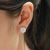 925純銀耳釘女水?氣質韓國百搭滿?耳環