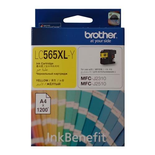 brother LC-565XL-Y原廠彩色高容墨水匣-黃色( 適MFC-J2310 / MFC-J2510 / MFC-J3520 / MFC-J3720 )