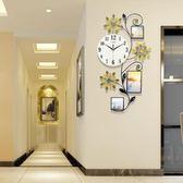一紅鐘表掛鐘客廳創意時鐘現代歐式掛表簡約大氣裝飾靜音石英鐘WY  八折免運 最後一天