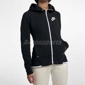 Nike 連帽外套 Tech Fleece Windrunner Hoodie 黑 白 女款 刷毛 【ACS】 930760-011