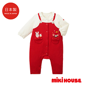 MIKI HOUSE BABY 日本製 舞颯兔假吊帶長袖連身服