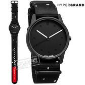 HyperGrand  / NW01SNOW / LO-FI 新加坡品牌 首創印花設計 極簡面板 尼龍手錶 黑色 38mm