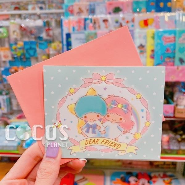 正版授權 三麗鷗立體卡片 雙子星 KIKI&LALA 小卡片 生日卡 萬用卡片 卡片 A款 COCOS DA030