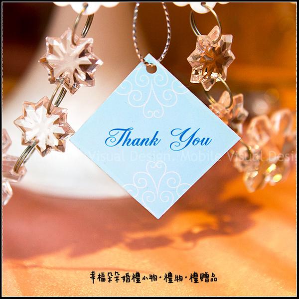 禮物小吊牌3.5X3.5cm(方形D款-Thank You)-零售-不含其它配件 禮物裝飾/包裝材料/婚禮小物/幸福朵朵
