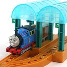 外貿兒童電動托馬斯火車站台軌道玩具套裝寶寶小火車軌道男孩玩具