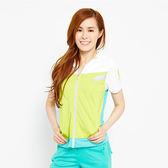 TOP GIRL 致青春連帽短袖外套-淺綠