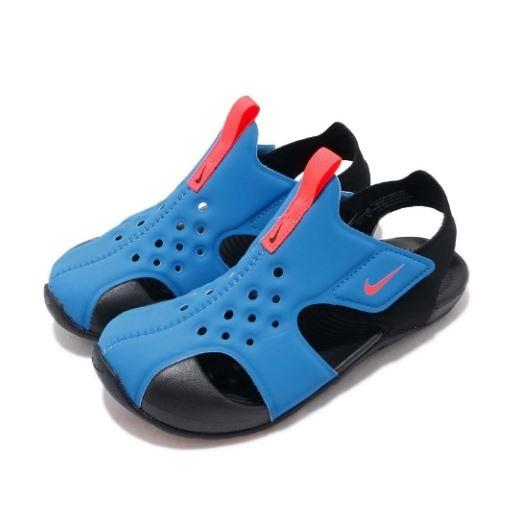 NIKE系列- SUNRAY PROTECT 2 (PS) 涼拖鞋藍 童鞋-NO.943826400