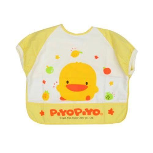 『121婦嬰用品館』黃色小鴨短袖餵食圍兜