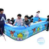 充氣泳池 嬰幼兒童家用游泳池超大號充氣寶寶保溫洗澡桶加厚小孩游泳戲水池T 1色