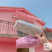 韓國原宿港風日系酷炫鐳射火烈鳥學生刺繡軟妹筆袋學習用品男女潮
