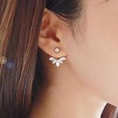 925純銀耳環 鑲鑽(耳針式)-百搭柔美生日情人節禮物女飾品3色73ag180【巴黎精品】