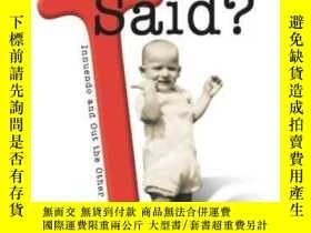 二手書博民逛書店Something罕見I Said?: Innuendo And