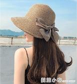 草帽女大帽檐夏涼帽漁夫帽時尚海邊沙灘大沿太陽帽防曬帽子遮陽帽 蘇菲小店