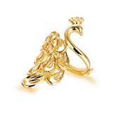 【5折超值價】最新款時尚精美特色孔雀漫舞造型銅鍍18K金女款戒指