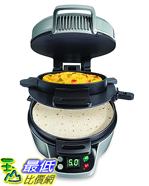 [美國直購] Hamilton Beach 25495 墨西哥捲餅 薄餅機 Breakfast Burrito Maker, Silver