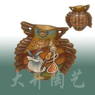 陶藝禮物禮品陶瓷工藝品報恩鳥*牧羊曲花瓶裝飾品