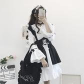蘿莉連身裙日系軟妹紙鳶lolita原創哥特風蘿莉少女僕裝cos洋裝洛麗塔連身裙非凡小鋪