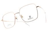 SEROVA光學眼鏡 SE SL582 C01 (玫瑰金) 微方框率性韓風款  #金橘眼鏡
