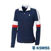 K-SWISS Tracksuit Zip Up運動外套-女-藍