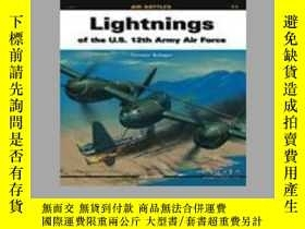 二手書博民逛書店Lightnings罕見Of The U.S. 12th Army Air Force (slight damag