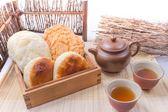 雪花齋-酥餅系列綜合分享包30入,麥飴餅(太陽餅),杏仁酥,蒜蓉餅,伴手禮節慶禮盒