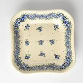 波蘭陶 春與花語系列 方形深餐盤 20cm 波蘭手工製