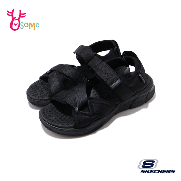 Skechers涼鞋 男涼鞋 運動涼鞋 EQUALIZER 4 SANDAL 健走涼鞋 柔軟Q彈 U8211#黑色◆OSOME奧森鞋業