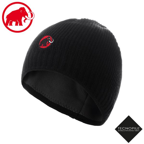 【MAMMUT 長毛象 Sublime Beanie 雙層針織保暖羊毛帽《黑》】1191-01542/毛線帽/禦寒帽/滑雪