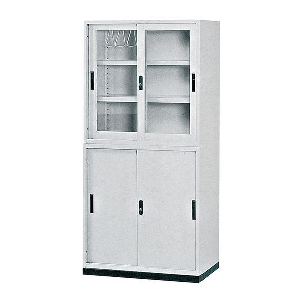 【森可家居】3尺玻璃拉門公文櫃上座 7JX284-15 理想櫃 資料櫃 檔案櫃