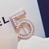 胸針 玫瑰金珍珠配件-簡約鑲鑽生日情人節禮物女胸章73bz5[巴黎精品]
