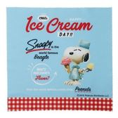〔小禮堂〕史努比 方形眼鏡布《藍紅.冰淇淋》20x20cm.擦拭布.拭鏡布 4979274-15708