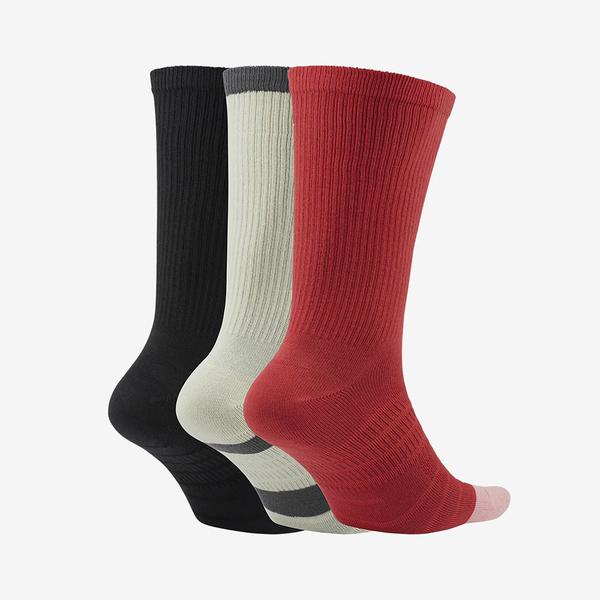 Nike U SB EVERYDAY MAX LTWT CREW 三雙入 紅黃黑 撞色 中筒襪 CU6588-901