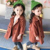 秋裝新款女童裝風衣外套中長款兒童寶寶秋季大衣上衣1-234歲【限時八五折】