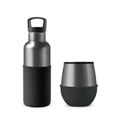 HYDY 油墨黑-鈦灰 保溫杯瓶組 (240ml+480ml)