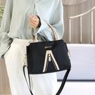 手提包-尼龍三層大容量休閒撞色女側背包3...