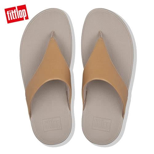 【FitFlop】LULU LEATHER TOE-THONGS 經典款夾腳涼鞋胭(胭脂裸膚)-女