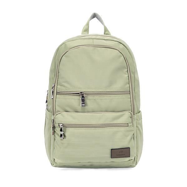 【南紡購物中心】J II 後背包-極限水洗雙拉鍊後背包-豆綠色-6566-22