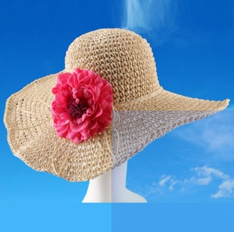 [協貿國際]  女士夏天防紫外線草帽可折疊遮陽帽 (1入)