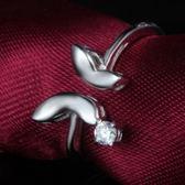 戒指 925純銀 鑲鑽-蝴蝶開口生日母親節禮物女飾品73dx18[時尚巴黎]