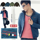 【大盤大】(D1-088) 男 女 輕量羽絨衣 羽絨外套 夾克 基本款 繡花 微涼 戶外 立領【2XL號斷貨】