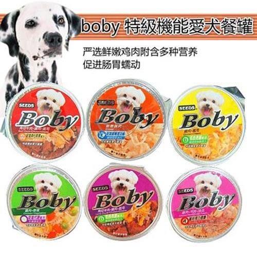 【培菓平價寵物網】聖萊西Seeds《boby 特級機能愛犬餐罐》80g*1杯
