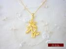 9999純金 黃金 墜子 墜飾 項鍊 送精緻皮繩項鍊