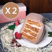 【媚力泊】香濃芋頭拿破崙蛋糕捲 2條入組(芋泥捲/拿破崙/彌月蛋糕)