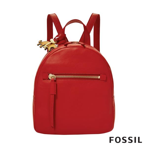 FOSSIL MEGAN 真皮小後背包-紅色 ZB7860646