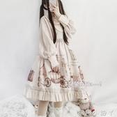 蘿莉裝原創國牌lolita日常裙op復古洋裝輕lo公主裙洛麗塔少女軟妹洋裝 NMS蘿莉小腳丫