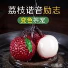 漢唐變色荔枝茶寵擺件可養精品創意個性茶玩澆水茶道茶具茶盤配件  一米陽光