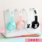 耳罩式耳機 卡通動漫可愛兒童女生粉色手機電腦耳機頭戴式有線控帶麥耳麥通用 源治良品